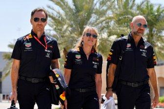 Christian Horner, Team Principal, Red Bull Racing, Jayne Poole,, Red Bull Racing (F1) & Red Bull Technology, y Adrian Newey