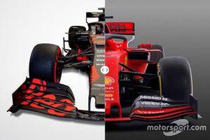 Red Bull RB15 vs. Ferrari SF90 comparison