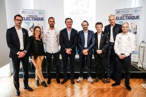 Jerome Hiquet, Formula E Chief marketing Officer, Jean-Eric Vergne, DS TECHEETAH, Alejandro Agag, CEO, Formula E, Eric Barbaroux, FFSA, Pierre Gosselin, FFSA, Xavier Mestelan, Head of DS Performance