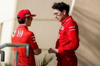 Charles Leclerc, Ferrari and Mattia Binotto, Team Principal Ferrari