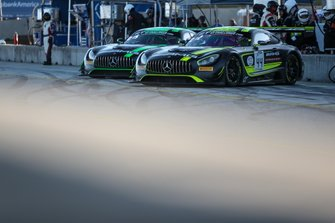 #43 Strakka Racing Mercedes-AMG GT3: Christina Nielsen, Adam Christodoulou, Dominik Baumann, #44 Mercedes-AMG Team Strakka Racing Mercedes-AMG GT3: Lewis Williamson, Gary Paffett, Tristan Vautier