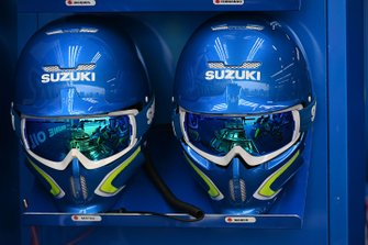 Team Suzuki MotoGP helmets