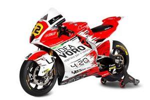 Gros plan sur la moto de Stefano Manzi, MV Agusta F2