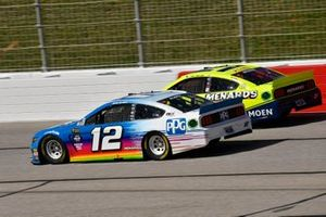 Ryan Blaney, Team Penske, Ford Mustang PPG, Paul Menard, Wood Brothers Racing, Ford Mustang Menards / MOEN