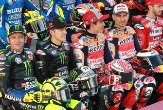 Valentino Rossi, Yamaha Factory Racing, Maverick Vinales, Yamaha Factory Racing, Marc Marquez, Repsol Honda Team, Jorge Lorenzo, Repsol Honda Team