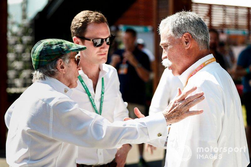 Sir Jackie Stewart, Chase Carey, CEO Formula 1