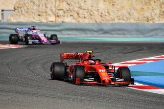 Charles Leclerc, Ferrari SF90, leads Sergio Perez, Racing Point RP19