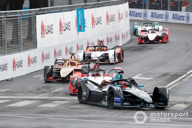 Gary Paffett, HWA Racelab, VFE-05, Pascal Wehrlein, Mahindra Racing, M5 Electro, Jean-Eric Vergne, DS TECHEETAH, DS E-Tense FE19, Daniel Abt, Audi Sport ABT Schaeffler, Audi e-tron FE05, Jérôme d'Ambrosio, Mahindra Racing, M5 Electro, Oliver Turvey, NIO Formula E Team, NIO Sport 004