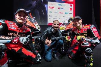Chaz Davies, Alvaro Bautista, Ducati Team, Claudio Domenicali