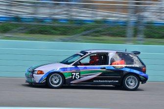 #75 MP4A Honda Civid driven by Renato Tradardi Sr. & Renato Tradardi Jr. of Formula Motorsport