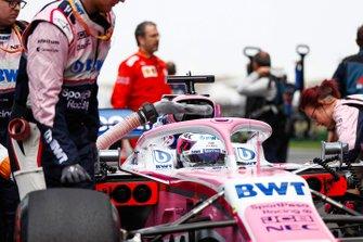 Sergio Perez, Racing Point RP19, sur la grille