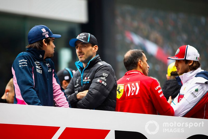 Lance Stroll, Racing Point, y Robert Kubica, Williams Racing