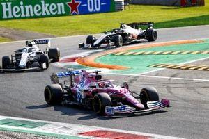 Sergio Perez, Racing Point RP20 and Nicholas Latifi, Williams FW43