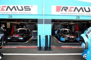 Garage of Harrison Newey, Audi Sport Team WRT, Audi RS 5 DTM, Fabio Scherer, Audi Sport Team WRT, Audi RS 5 DTM