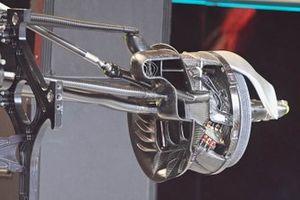 Detalle del conducto de los frenos del Mercedes F1 W11