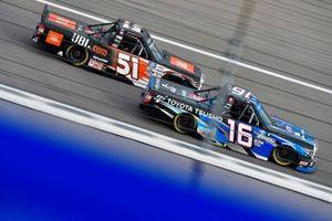 Austin Hill, Hattori Racing Enterprises, Toyota Tundra Toyota Tsusho and Chandler Smith, Kyle Busch Motorsports, Toyota Tundra JBL
