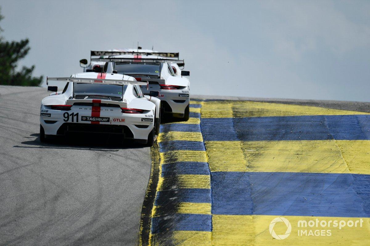 #911 Porsche GT Team Porsche 911 RSR - 19, GTLM: Nick Tandy, Fred Makowiecki, #912 Porsche GT Team Porsche 911 RSR - 19, GTLM: Laurens Vanthoor, Earl Bamber