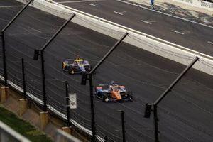 Scott Dixon, Chip Ganassi Racing Honda, Alexander Rossi, Andretti Autosport Honda