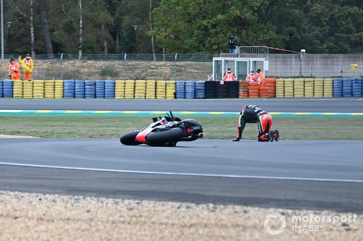 Caída de Bradley Smith, Aprilia Racing Team Gresini