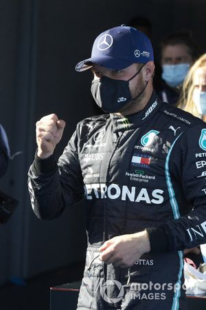 Pole man Valtteri Bottas, Mercedes-AMG F1, celebrates
