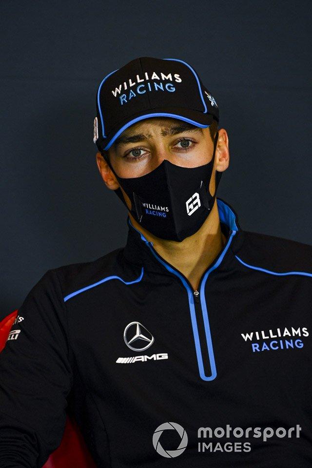 George Russell, Williams Racing,en la conferencia de prensa