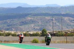 Jonathan Rea, Kawasaki Racing Team, Chaz Davies, Aruba.it Racing Ducati
