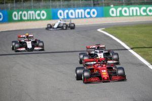 Charles Leclerc, Ferrari SF1000, Romain Grosjean, Haas VF-20, Kevin Magnussen, Haas VF-20, and Nicholas Latifi, Williams FW43