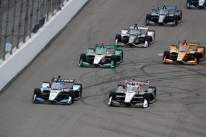 Takuma Sato, Rahal Letterman Lanigan Racing Honda, Josef Newgarden, Team Penske Chevrolet