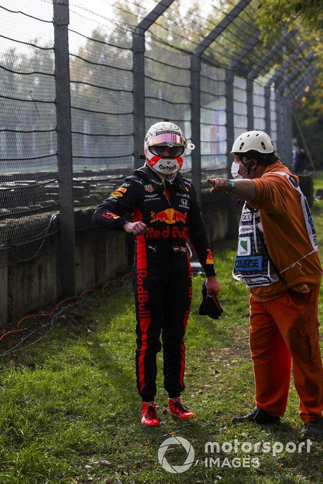 Макс Ферстаппен, Red Bull Racing. после схода