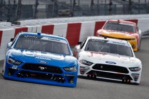 Austin Cindric, Team Penske, Ford Mustang PPG and Chase Briscoe, Stewart-Haas Racing, Ford Mustang Go Bowling