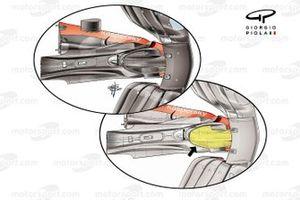 Носовой обтекатель Ferrari SF21, вид снизу