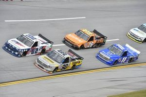 Grant Enfinger, ThorSport Racing, Toyota Tundra Champion/Curb Records, Kris Wright, Young's Motorsports, Chevrolet Silverado First National Bank, Tyler Ankrum, GMS Racing, Chevrolet Silverado LiUNA!
