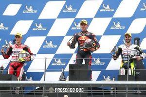 Podium: 1. Pedro Acosta, 2. Sergio Garcia, 3. Romano Fenati