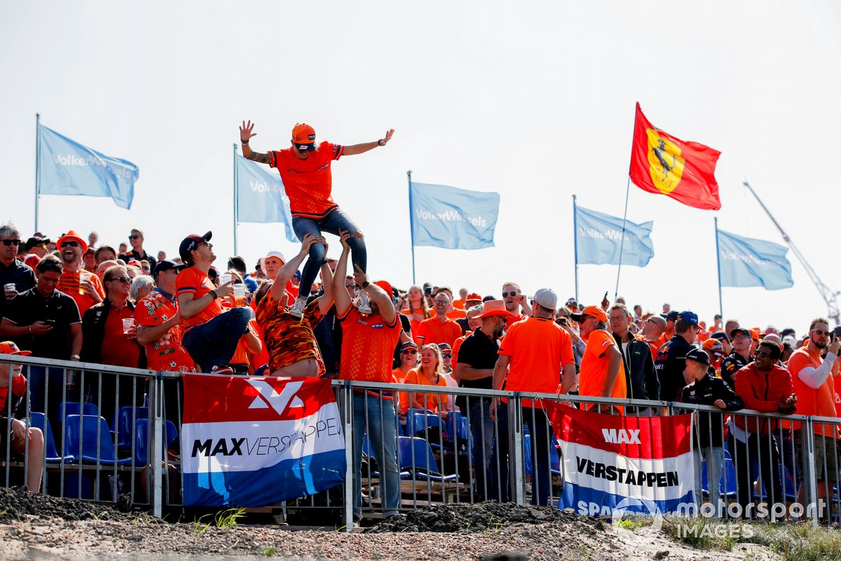 Fan di Max Verstappen, Red Bull Racing, in tribuna