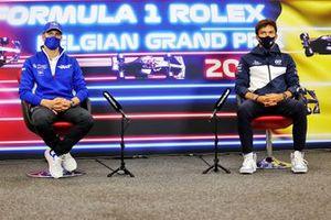 Mick Schumacher, Haas F1, en Pierre Gasly, AlphaTauri, in de persconferentie