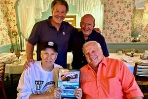 Steve Shunck_ Nigel Roebuck, Robin Miller, A.J. Foyt