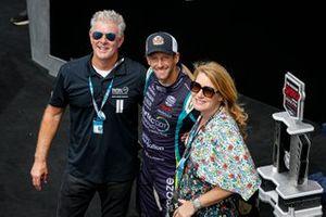 Podio: segundo lugar Romain Grosjean, Dale Coyne Racing with RWR Honda