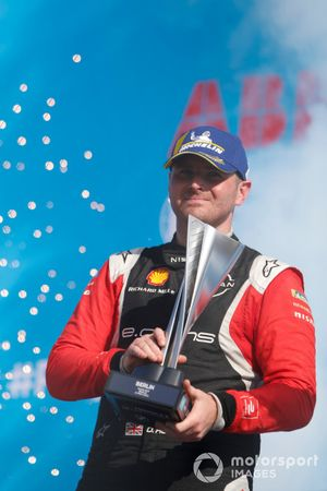 Oliver Rowland, Nissan e.Dams, 2nd position, on the podium