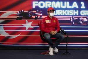 Charles Leclerc, Ferrari at the press conference