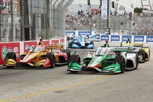 Ryan Hunter-Reay, Andretti Autosport Honda, James Hinchcliffe, Andretti Steinbrenner Autosport Honda