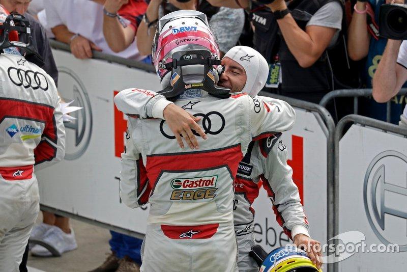 Race winner Nico Müller, Audi Sport Team Abt Sportsline, Mike Rockenfeller, Audi Sport Team Phoenix