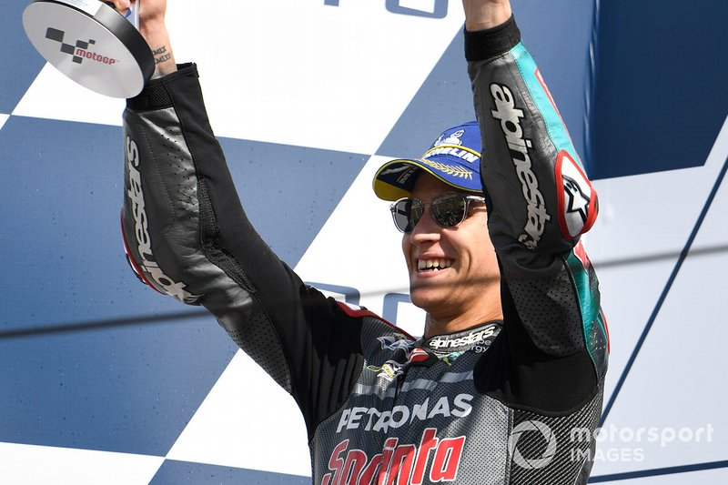 Podio: secondo classificato Fabio Quartararo, Petronas Yamaha SRT