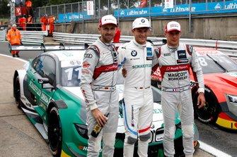 Top 3 dopo le Qualifiche, Pole sitter Marco Wittmann, BMW Team RMG, René Rast, Audi Sport Team Rosberg, Loic Duval, Audi Sport Team Phoenix