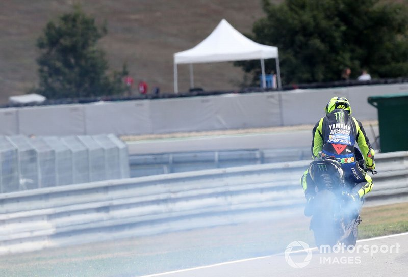 Valentino Rossi, Yamaha Factory Racing, blown engine