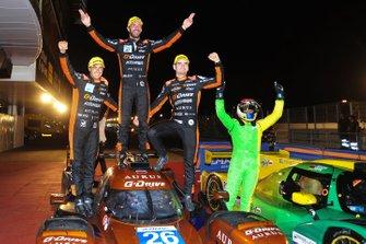 Race winners #26 G-Drive Racing Aurus 01 Gibson: Roman Rusinov, Job Van Uitert, Jean-Eric Vergne