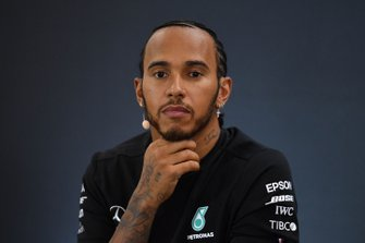 Lewis Hamilton, Mercedes AMG F1, 2nd position, in the Press Conference