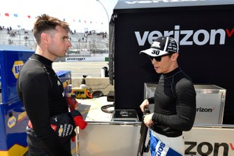 Will Power, Team Penske Chevrolet, Takuma Sato, Rahal Letterman Lanigan Racing Honda