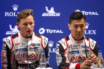 #7 TOYOTA GAZOO RACING - Toyota TS050 - Hybrid: Mike Conway, Kamui Kobayashi, Qualifying Press Conference, 4 Hours of Silverstone, Silverstone Circuit, Silverstone, Northamtonshire,England