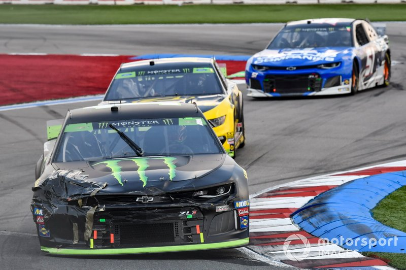Kurt Busch, Chip Ganassi Racing, Chevrolet Camaro Monster Energy, Brad Keselowski, Team Penske, Ford Mustang Alliance Truck Parts, Cody Ware, Petty Ware Racing, Chevrolet Camaro JACOB COMPANIES