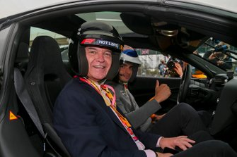 Presenter Phillip Schofield in a Hot Laps car